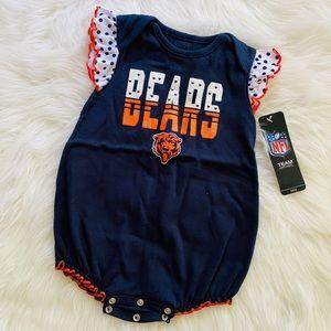 {NFL Official Gear} The Bears Navy Girls Onesie